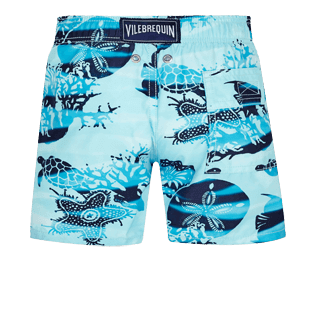 Boys Others Printed - Boys Swim Trunks Ocean Currents, Horizon back