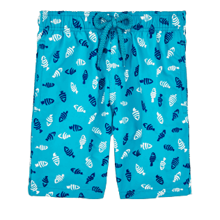 Boys Others Embroidered - Boys Swimtrunks Embroidered Mini Fish - Limited Edition, Curacao front