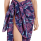 Others Printed - Cotton Voile Pareo Coral & Fish, Navy supp1