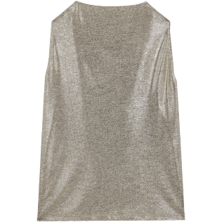 Mujer Autros Liso - Women Lurex mesh Tank Top Solid, Oro back