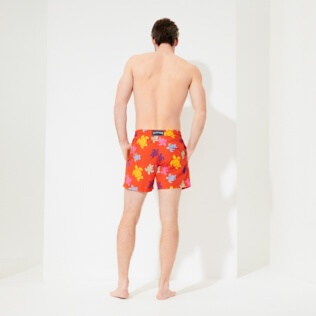 Men Classic Printed - Men Swim Trunks Tortues Multicolores, Medlar backworn
