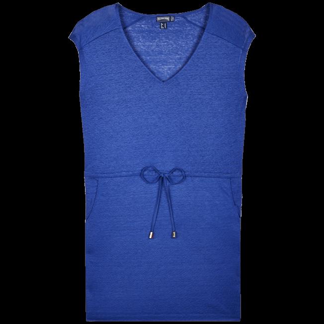Vilebrequin - Robe courte en Jersey de lin Femme Unie - 1