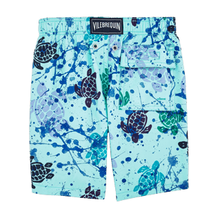 Boys Classic / Moorea Printed - Ronde des Tortues Tachiste Swim Shorts, Lagoon back
