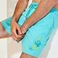 男款 Classic 绣 - Men Swimwear Placed embroidery Evening Birds, Lazulii blue supp1