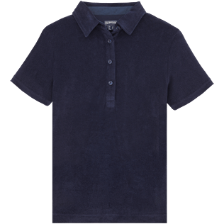 Women Polos Solid - Solid Terry Polo, Navy front