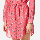 Women Others Printed - Women Cotton veil Shirt Dress Turtles Song, Cherry blossom supp1