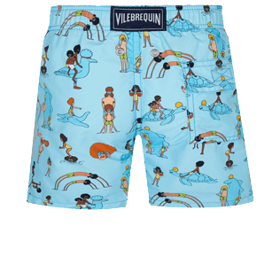 Boys Others Printed - Boys Swimwear My Favorite Dad !, Sky blue 2 back