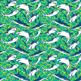 Men Stretch classic Printed - Men Swimwear Stretch Sharks - Web Exclusive, Veronese green pattern