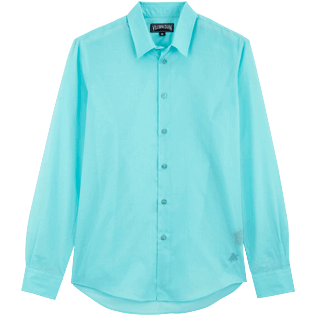 Others Solid - Unisex cotton voile Shirt Solid, Lazulii blue front