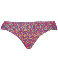 Women Classic brief Printed - Women Bikini Bottom Ruffle Brief Indian Ceramic, Pink berries front