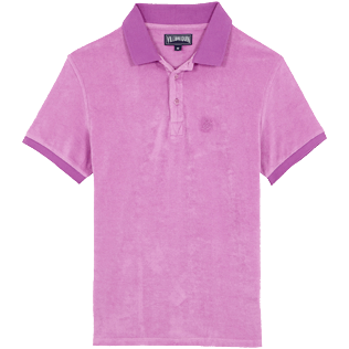 Men Others Solid - Men Terry cloth Polo Shirt Solid, Pink berries front