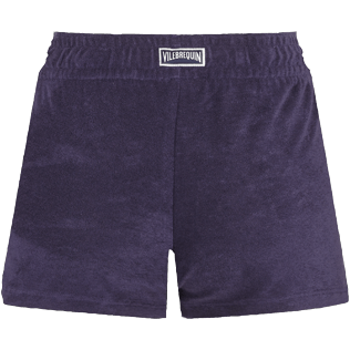 Women Others Solid - Women Terry cloth shortie Solid, Midnight blue back