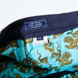 Men Others Printed - Men Chino Pants So Kind Dragon, Navy supp1