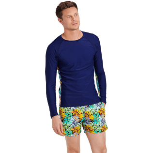 Men Others Printed - Men Rashguard Jungle, Midnight blue frontworn