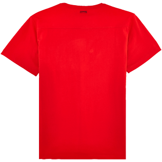 Men Others Solid - Men Pima Cotton Jersey T-shirt Solid, Poppy red back