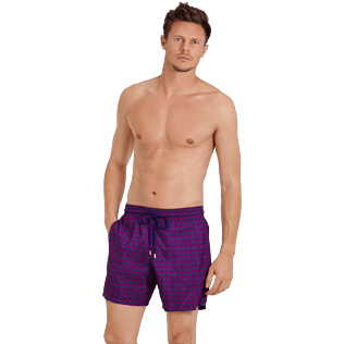 Men Ultra-light classique Printed - Men Swim Trunks Ultra-light and packable Perspective Fish, Plum frontworn
