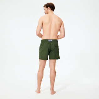 Men Classic Embroidered - Men Swimwear Pranayama Placed embroidery, Pepper backworn