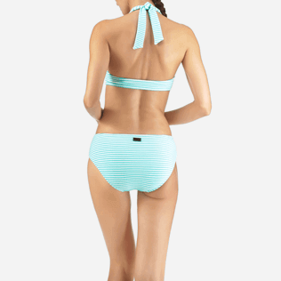 Women Bottoms Graphic - Stripped Terry Bikini bottom, Lagoon supp2