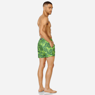 Homme CLASSIQUE ULTRA-LIGHT Imprimé - Maillot de Bain Homme Ultra Léger et Pliable Jungle Turtles, Vert pelouse backworn