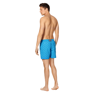 Men Classic Printed - Men Swimwear Micro Ronde des Tortues, Hawaii blue backworn