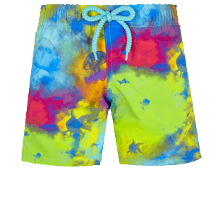 Boys Others Printed - Boys Swim Trunks Stretch Holi Party, Batik blue front