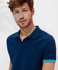 Men Others Solid - Men Cotton Pique Polo Shirt Solid, Goa frontworn