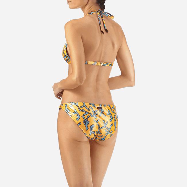 Vilebrequin - Haut de maillot triangle foulard Danse du Feu - 5