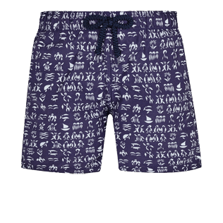 Boys Others Printed - Boys Swim Trunks Fortune Teller Turtles, Midnight blue front