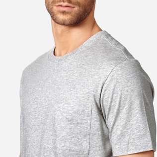 Men Others Solid - Men Pima Cotton Jersey T-Shirt Solid, Heather grey supp1