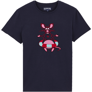 Uomo Altri Stampato - T-shirt uomo in cotone The Year Of The Rat, Blu marine front