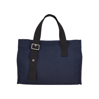 Bags Solid - Small Solid Cotton beach bag, Navy back