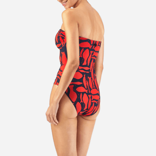 Women One Piece Printed - Silex Fishes One piece, Poppy red supp3