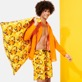 Men Long classic Printed - Men Swimwear Long 1976 Sun Turtles, Lemon supp2