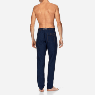 Men Others Solid - Indigo Pants, Indigo backworn