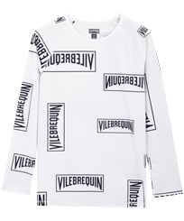 Men Others Printed - Men Rashguard Vilebrequin labels, White front
