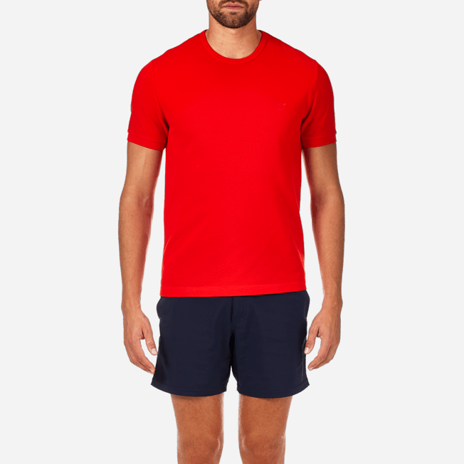 Vilebrequin - Camiseta en piqué de algodón liso - 5