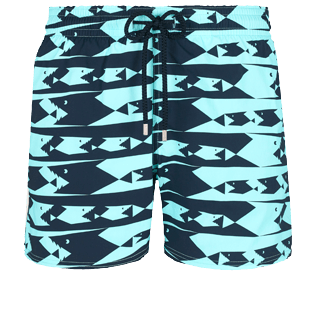Men Stretch classic Printed - Men Swim Trunks Stretch Attrape moi si tu peux - WEB EXCLUSIVE, Lagoon front