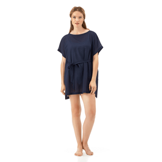 Women Dresses Solid - Solid Cover-up Dress, Navy supp1