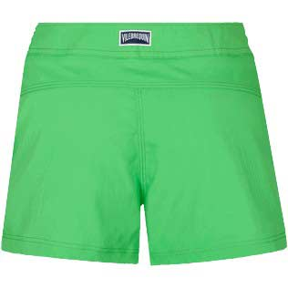 Women Others Solid - Women Stretch swim short Solid, Grass green back