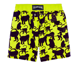 Boys Others Printed - Boys Swimtrunks Flocked Happy Monkeys, Chartreuse back