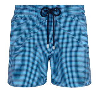 Men Stretch classic Graphic - Men Swim Trunks Stretch Carreaux, Swimming pool front
