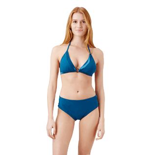 Women Halter Solid - Women Triangle Bikini Top Tuxedo, Spray frontworn