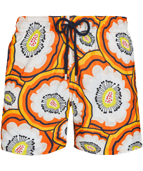 Men Ultra-light classique Printed - Men Swim Trunks Ultra-light and packable 1979 Anemones, Apricot front