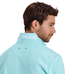 Men Others Solid - Men Cotton pique Polo Shirt Solid, Lagoon supp1