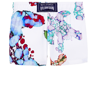 Others Printed - Baby swimshort  Watercolor Turtles, White back
