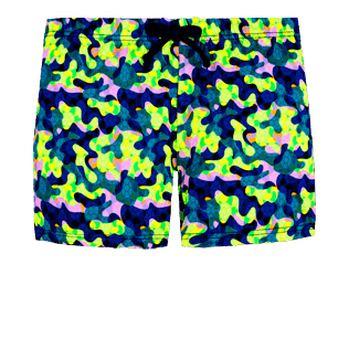 Boys Others Printed - Boys Swim Trunks Boxer Cuts Neo camo Turtles, Neon yellow front
