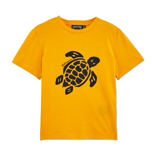 Boys Others Printed - Turtles Tee Shirt, Turmeric front