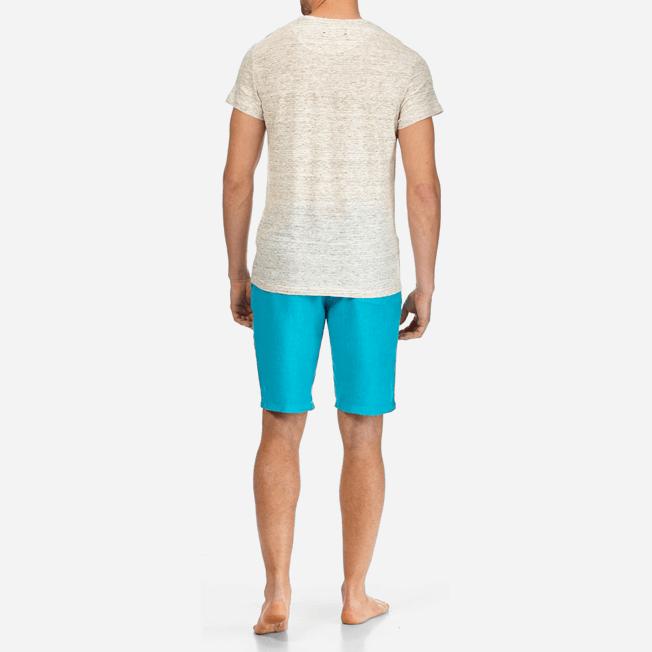 Vilebrequin - Camiseta de lino lisa para hombre - 4