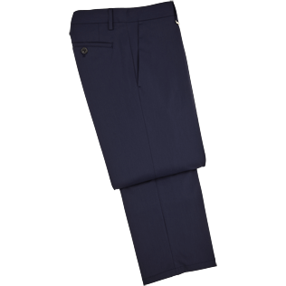 Men Pants Solid - Cavalier pocket tailored trouser, Navy front
