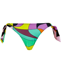 Women Classic brief Printed - Women Bikini Bottom Mini Brief to be tied 1984 Invisible Fish, Black front